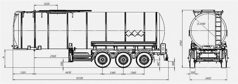 Технические характеристики Битумовоз sf3b35