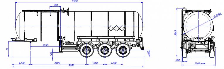 Технические характеристики Битумовоз sf3b25