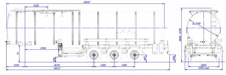 Технические характеристики Битумовоз sf3b28